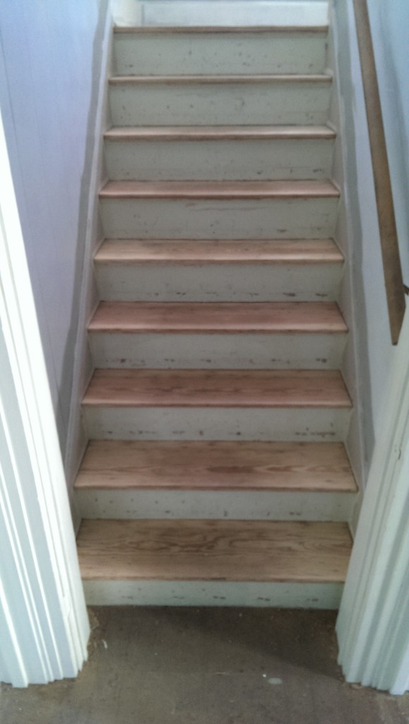 After: Newly sanded steps!