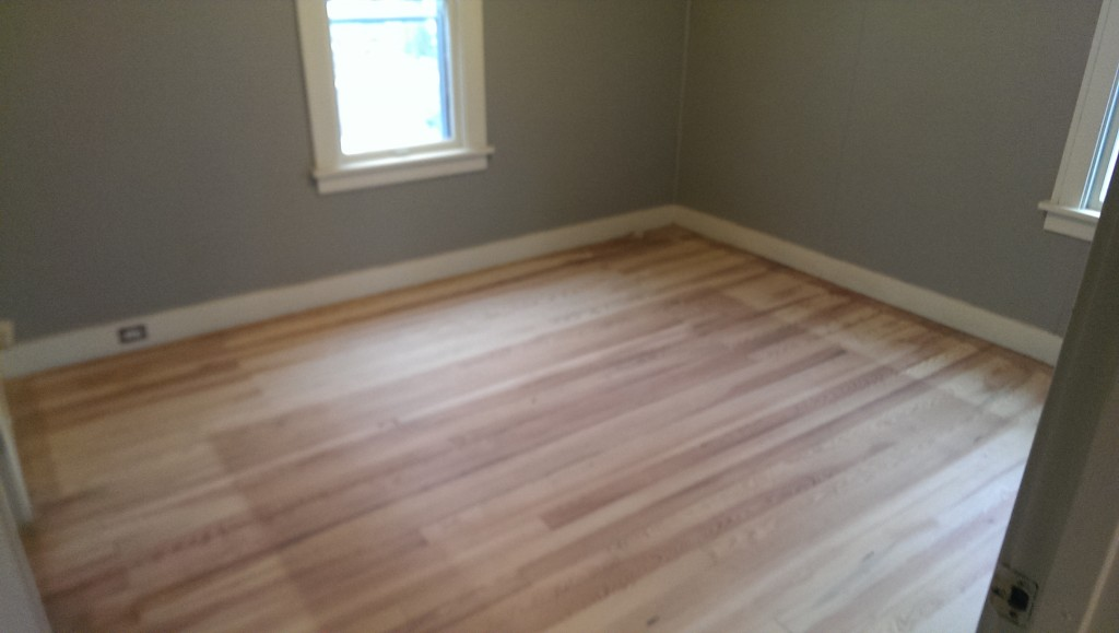 Main bedroom fully sanded
