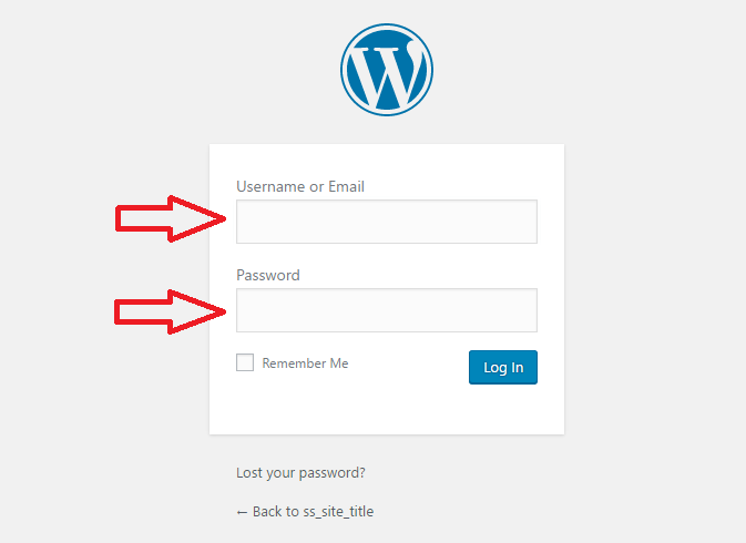 start a wordpress blog on ipage - sign into your wordpress account