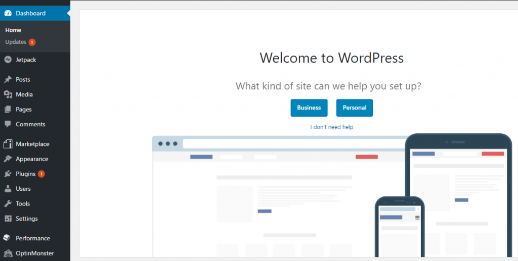 start a wordpress blog on ipage - welcome to wordpress