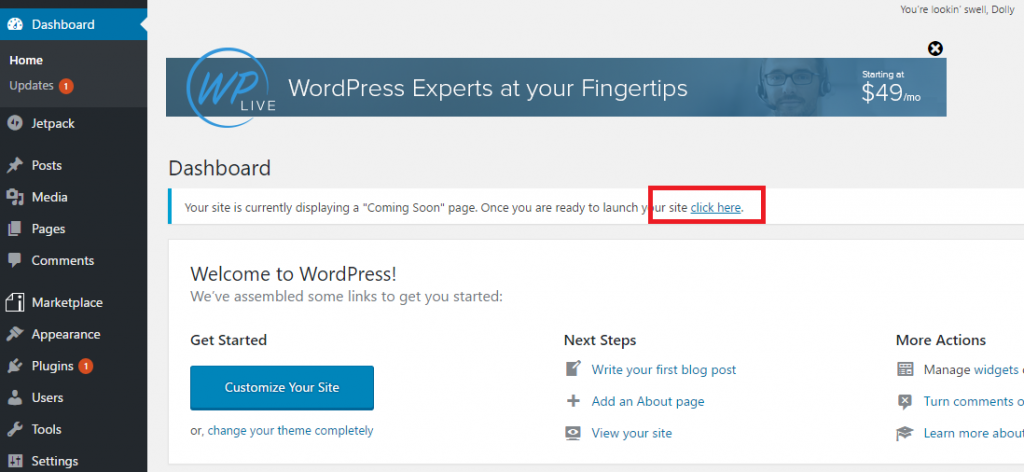start a wordpress blog on ipage - launch your site