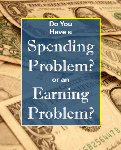 Spending Problem or an Earning Problem