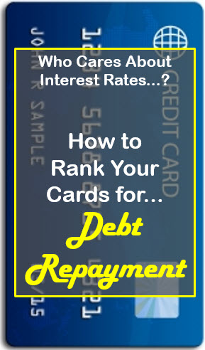 how to rank your cards for debt repayment
