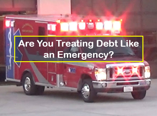 treating your debt like an emergency