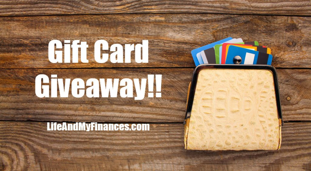 gift card giveaway lifeandmyfinances.com