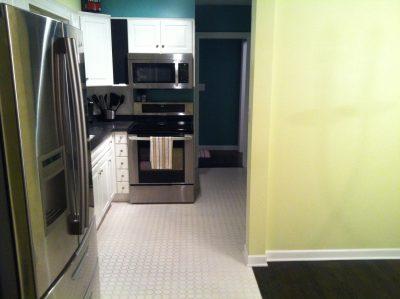 Brand new kitchen remodel to L-shaped kitchen