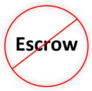 no escrow