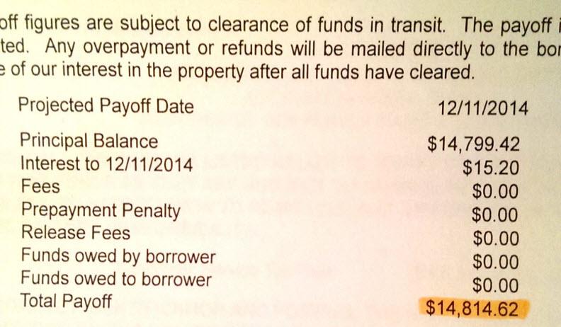 final payment sheet