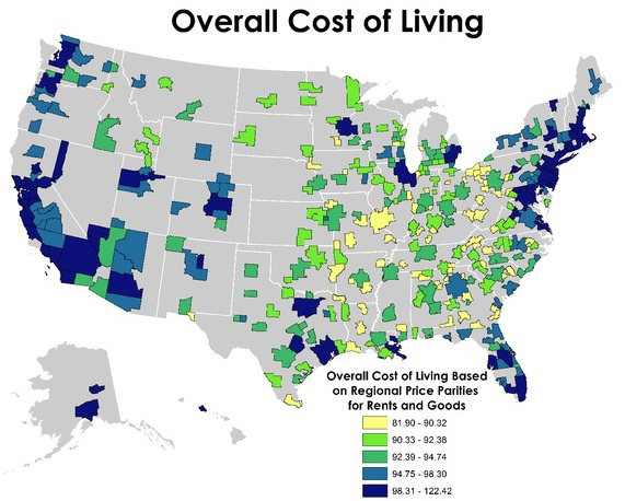 best cities to grow wealthy in the united states - low cost areas
