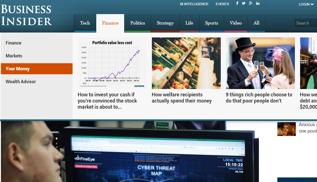 Business Insider view of Your Money quick view