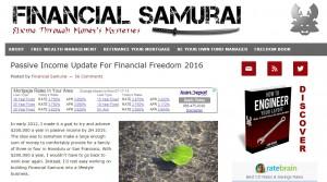 20160718 - financial samurai passive income page
