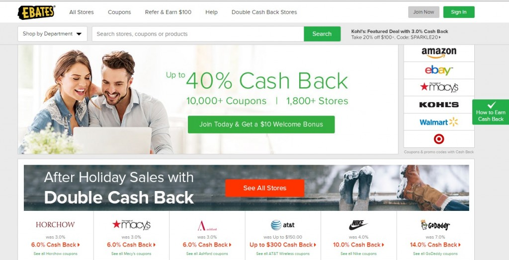 make money while spending on ebates