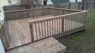 rental house deck week 3