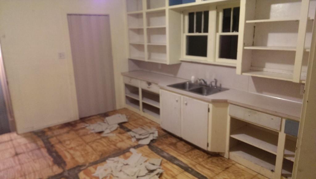 Kitchen Tile Removal