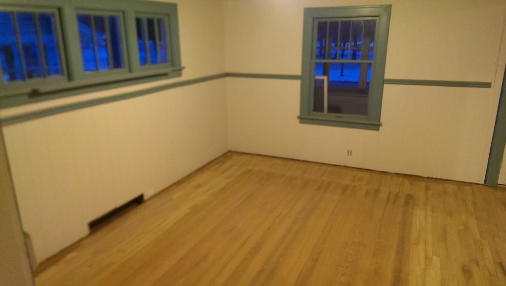 Dining room fully sanded
