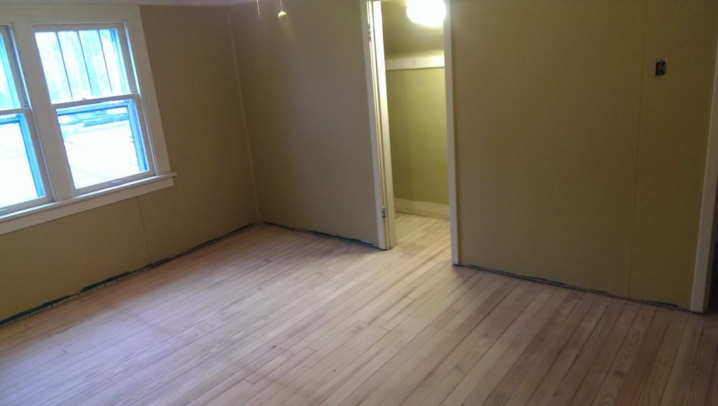 Upper bedroom fully sanded