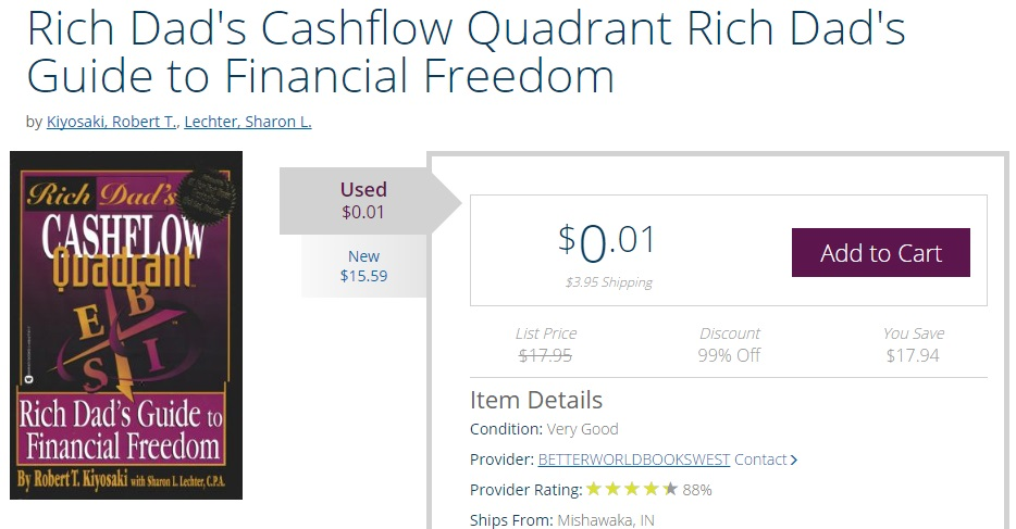 make money on books, cashflow quadrant