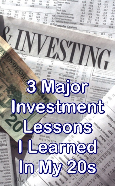 3 Major Investment Lessons