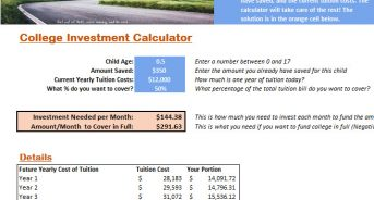 Free College Investment Calculator: It Costs More Than You Think