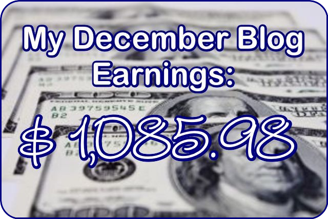December 2016 Blog Income Report