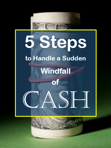 windfall of cash