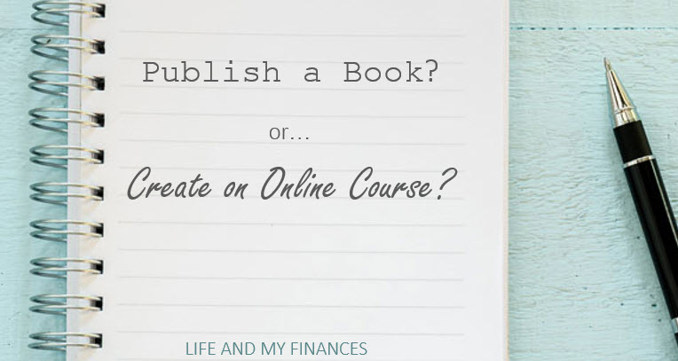 publish a book or create and online course