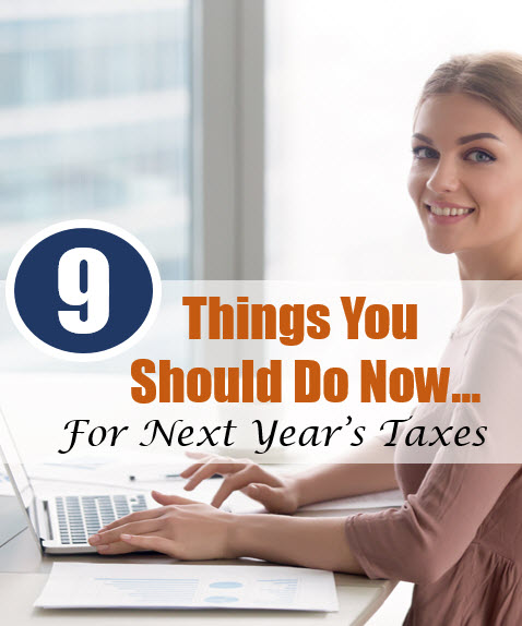 things you should do for next year's taxes