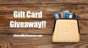 gift card giveaway lifeandmyfinances.com