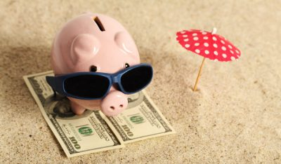 save a million dollars for retirement - pig on the beach