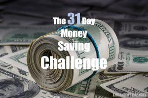 31 day money saving challenge