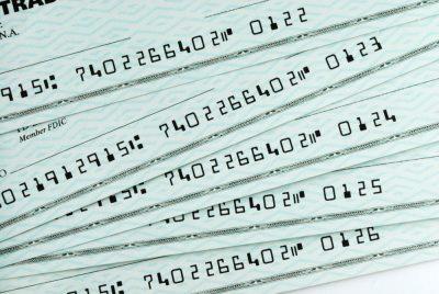using business checks
