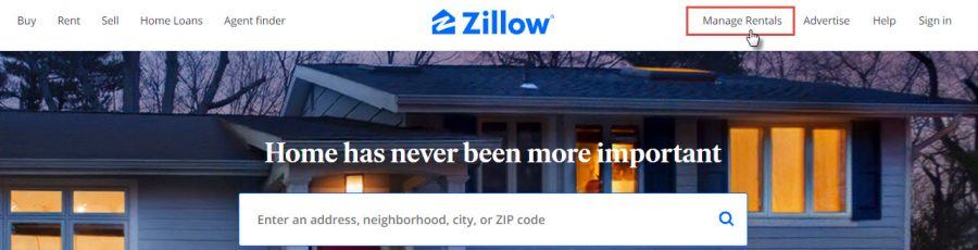 zillow - manage rental feature