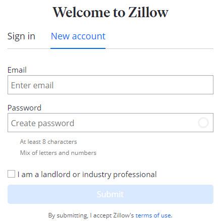 zillow register