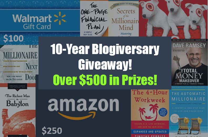 10 Year Blogiversary Giveaway!! Over $500 in Prizes!! Ends Aug 27th, 2020