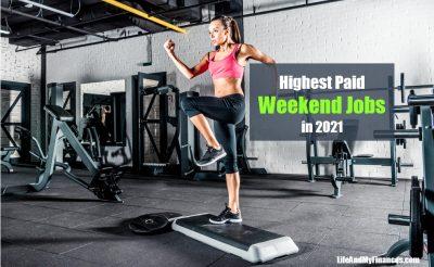 highest paid weekend jobs