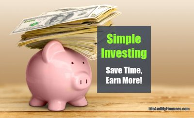 Simple Investing - piggy with money