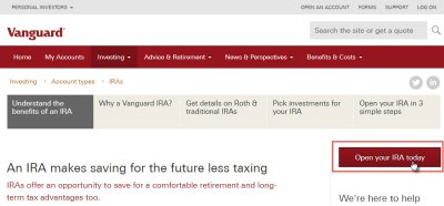 simple investing with vanguard - step 2