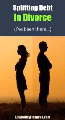 splitting debt in divorce
