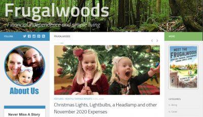 Frugalwoods homepage