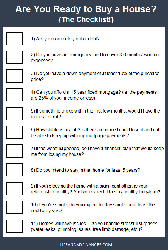 How to know if you are financially ready to buy a house. Use this checklist to know for sure!