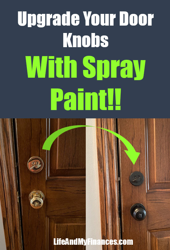does spray painting your door knobs last
