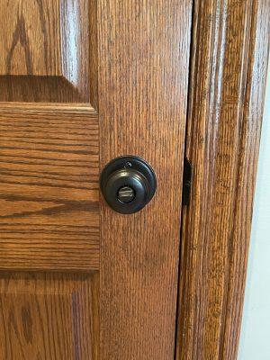 door knob after the paint job