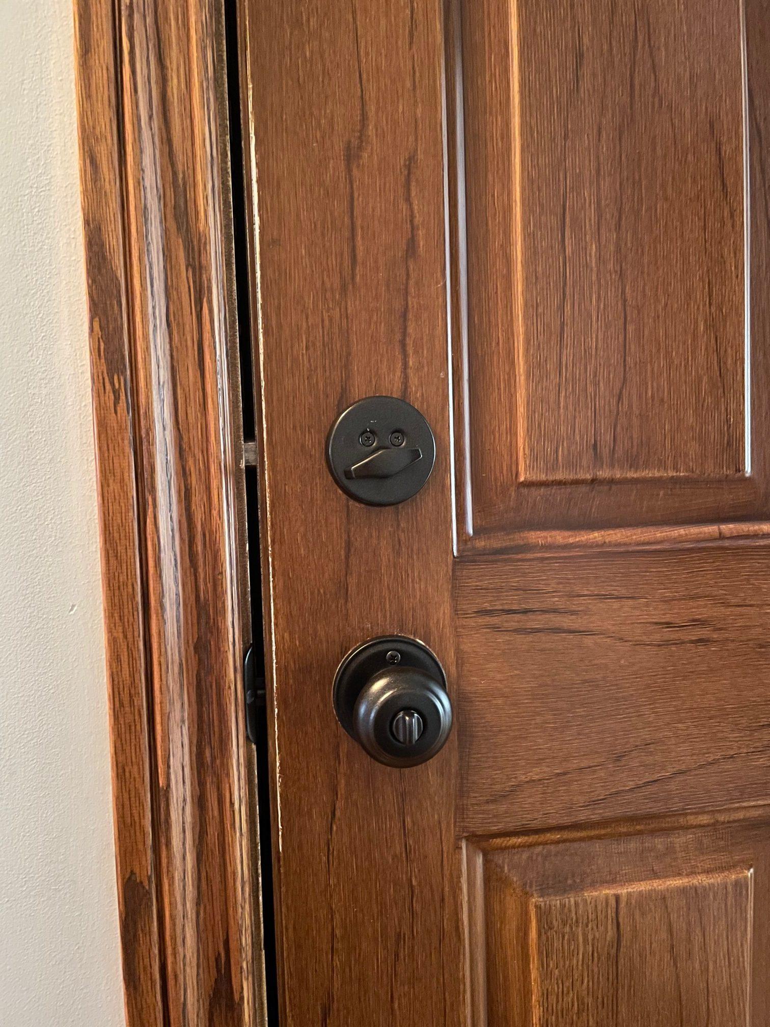 painted exterior door knob