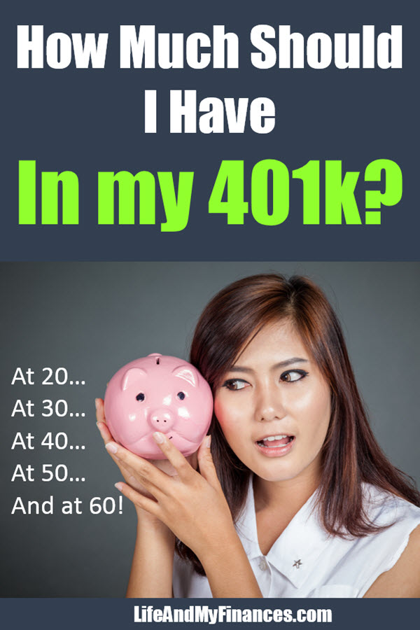 """Asking the question, """"How much should I have in my 401k?"""" Here's the answer by age!"""
