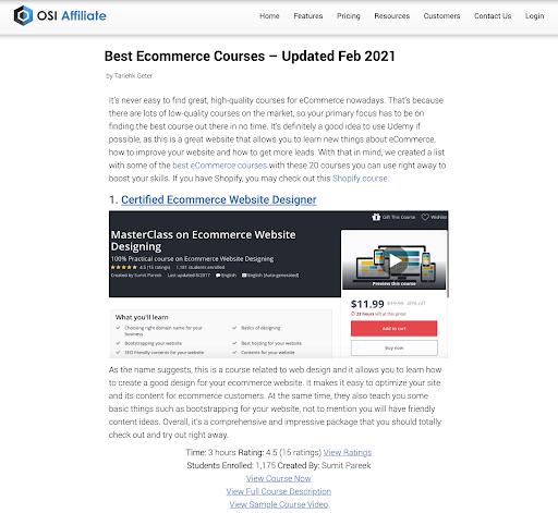 Best ecommerce courses - online courses