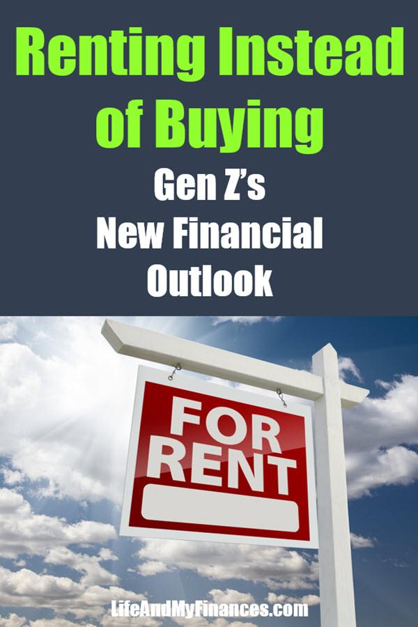 Renting instead of buying for gen Z