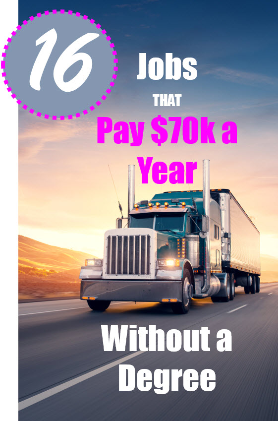 Jobs that pay $70k a year with NO degree. Earn more without the college degree!
