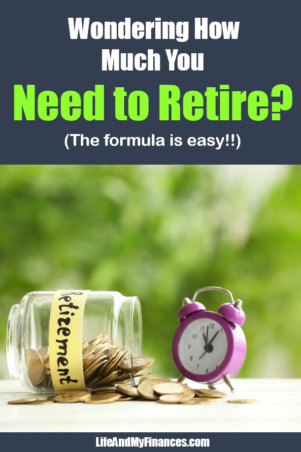 Wondering how much you need to retire? The retirement formula is easy!