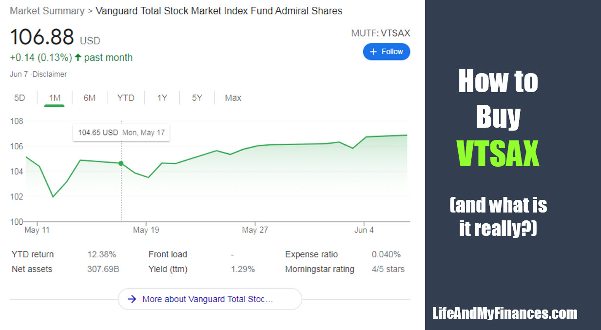 How to Buy VTSAX (and What is It Really...??)
