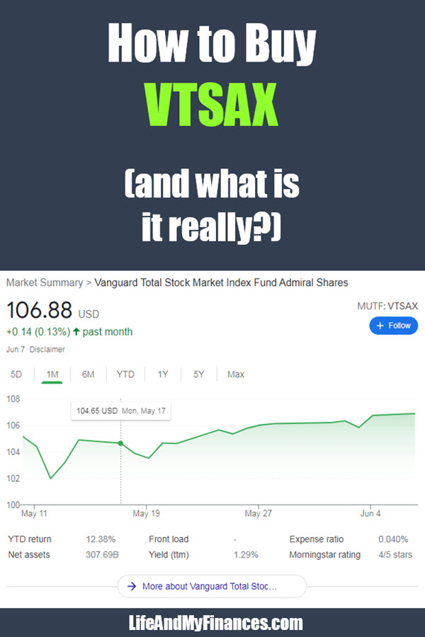 Want to know how to buy VTSAX? Buying VTSAX is not super easy, but it is with this step-by-step guide!